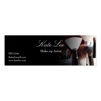 Make up brush Mini cosmetologist business card