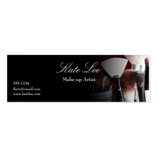 Make up brush Mini cosmetologist business card