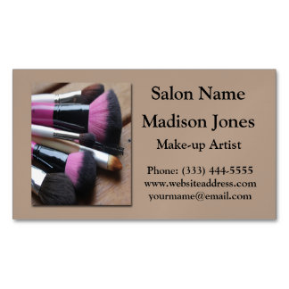 Make-up Brushes Business Card Magnets Magnetic Business Cards (Pack Of 25)
