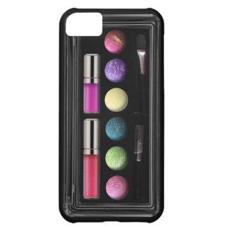 Make up case, colours, black base iPhone 5C case