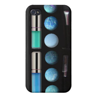 Make up case designed for iphone4 blue covers for iPhone 4
