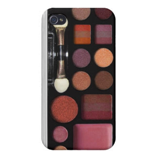 Make up case, designed for iphone4, brown, case for iPhone 4