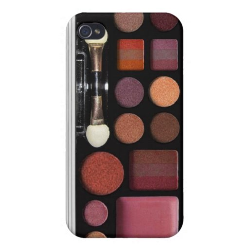 Make up case, designed for iphone4, brown, iPhone 4/4S covers