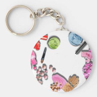Make Up Girl  customize cosmetics Basic Round Button Key Ring