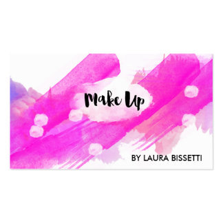 ★ Make Up Watercolour-Modern Calligraphy Design ★ Pack Of Standard Business Cards