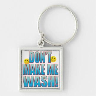 Make Wash Life B Silver-Colored Square Key Ring