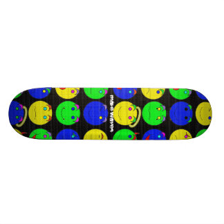 Make Waves Smiley Skateboard