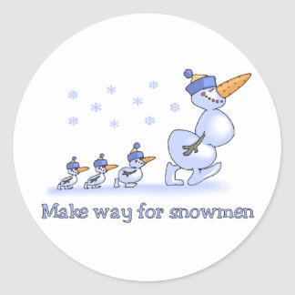 Make Way for Snowmen stickers