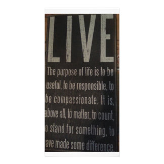 Make your life count card picture card