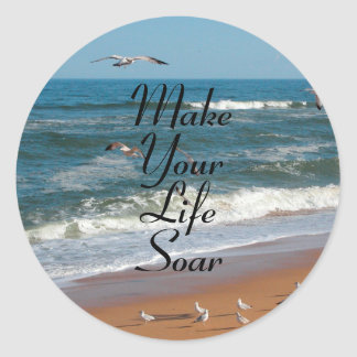 Make Your Life Soar Round Sticker