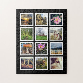 Make Your Own 12 Instagram Photo Collage Jigsaw Puzzle