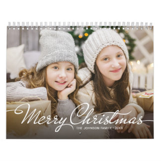 Make Your Own 2018 Family Photo Merry Christmas Wall Calendars