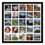 Make Your Own 25 Photo Gallery Style Poster