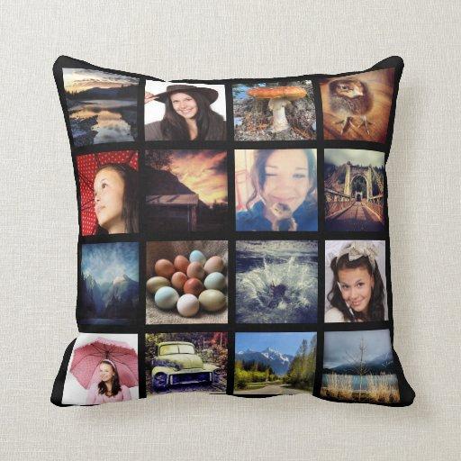 Make Your Own 32 Instagram Photo Collage Throw Pillows