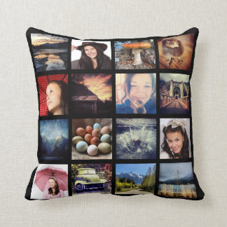 Make Your Own 32 Instagram Photo Collage Throw Pillow