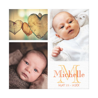 Make your own baby photo collage canvas print
