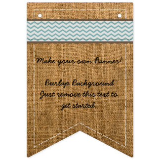 Make Your Own Burlap Banner Background Chevron