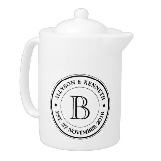 Make Your Own Burlap Retro Logo Monogram