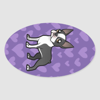 Make Your Own Cartoon Pet Oval Sticker