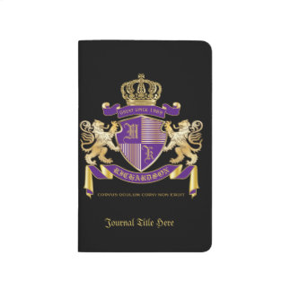 Make Your Own Coat of Arms Monogram Crown Emblem Journal