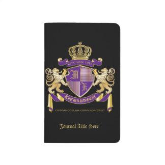 Make Your Own Coat of Arms Monogram Crown Emblem Journals