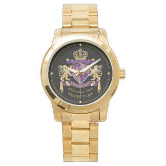 Make Your Own Coat of Arms Monogram Crown Emblem Watch