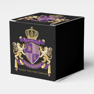Make Your Own Coat of Arms Monogram Crown Emblem Wedding Favour Box