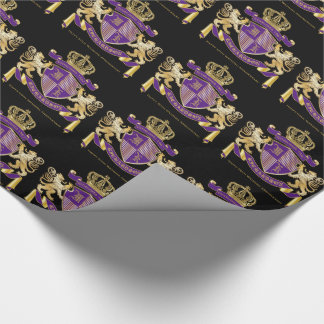 Make Your Own Coat of Arms Monogram Lion Emblem Wrapping Paper