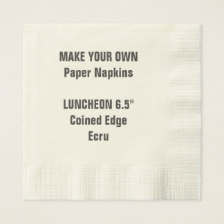 Make Your Own Coined Edge LUNCHEON Paper Napkins