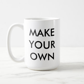 Make Your Own Custom Personalized White Mug