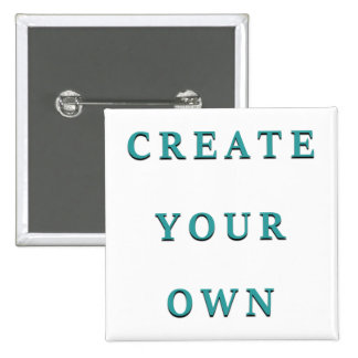 Make Your Own Custom Unique 15 Cm Square Badge