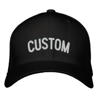 Make Your Own Embroidered Hat Front and Left