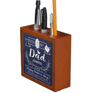 Make Your Own Father's Day No. 1 Dad Cute Monogram Desk Organiser