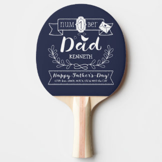 Make Your Own Father's Day No. 1 Dad Cute Monogram Ping Pong Paddle