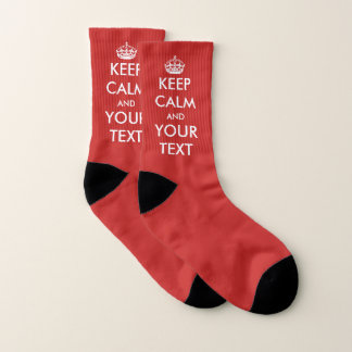 Make your own funny custom Keep calm and carry on Socks