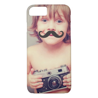 Make Your Own Funny Mustache Photo iPhone Case