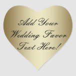 Make your own Gold Wedding Favour Heart Sticker