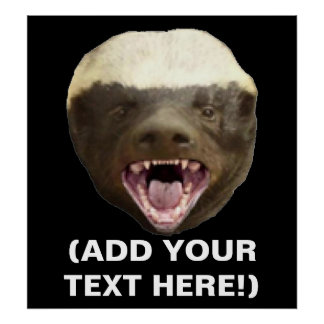 Make Your Own Honey Badger Don't Care Poster