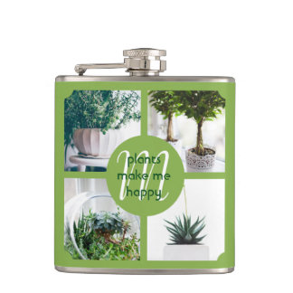 Make Your Own Instagram Trendy Green Photo Grid Flasks
