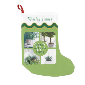 make your own instagram trendy green photo grid small christmas stocking