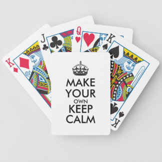 Make your own keep calm - black bicycle playing cards