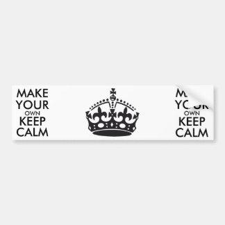 Make your own keep calm - black bumper sticker