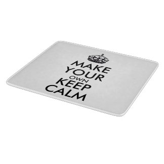 Make your own keep calm - black cutting board