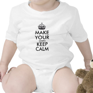 Make your own keep calm - black baby creeper