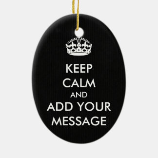 Make Your Own Keep Calm Christmas Ornament