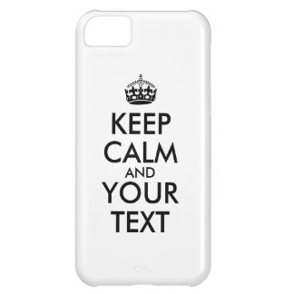 Make Your Own Keep Calm iphone 5c Case Add Words