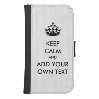 Make Your Own Keep Calm Product Black White Samsung S4 Wallet Case