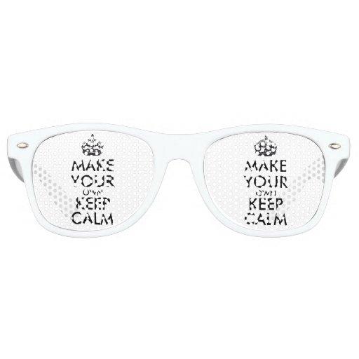 Make your own keep calm Retro Sunglasses