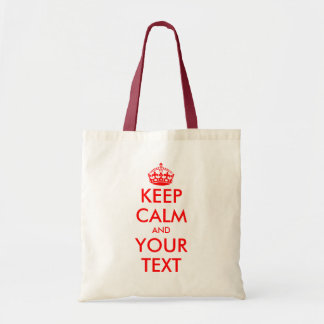Make your own keep calm tote bag | Customizable