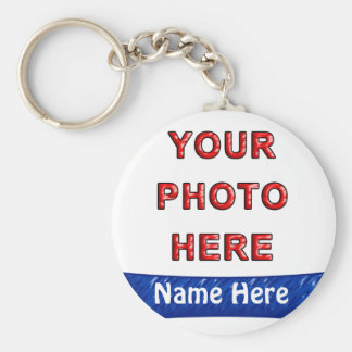 Make Your Own Keyrings Online with Photo & Name Basic Round Button Key Ring